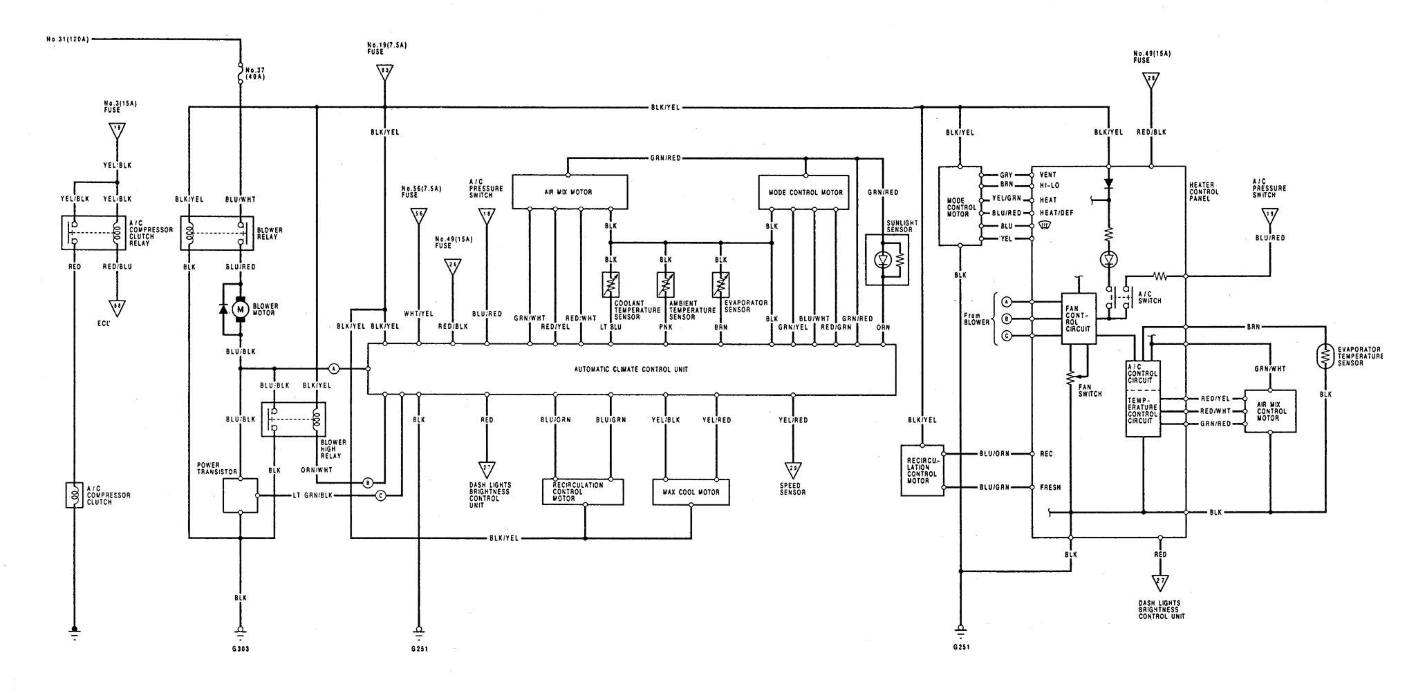 Acura Legend 1992 Wiring Diagram Hvac Controls Carknowledge