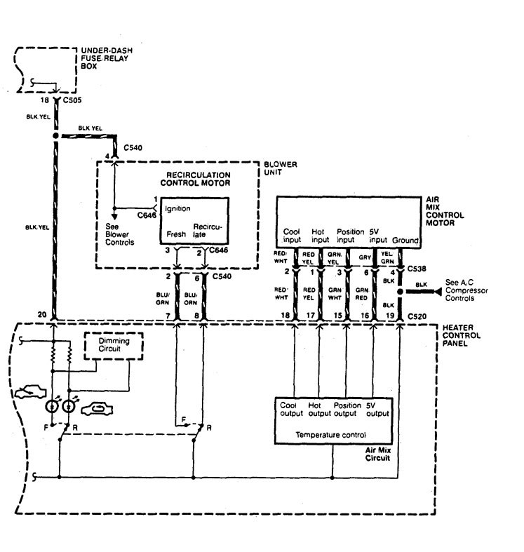 Acura Legend €� Wiring Diagram Hvac Controls Part 2: Hvac Control Panel Wiring Diagram At Shintaries.co
