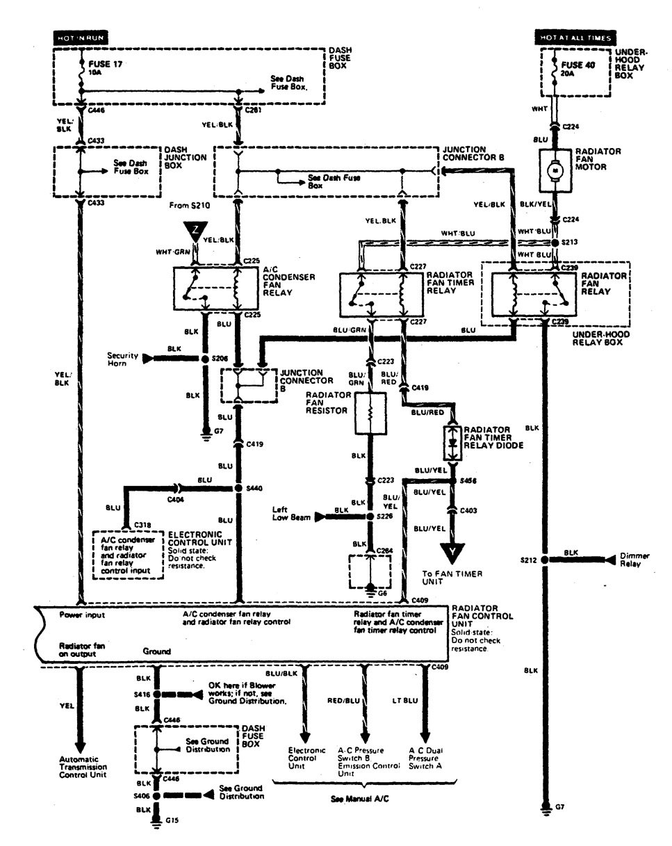 acura legend  1990  - wiring diagram