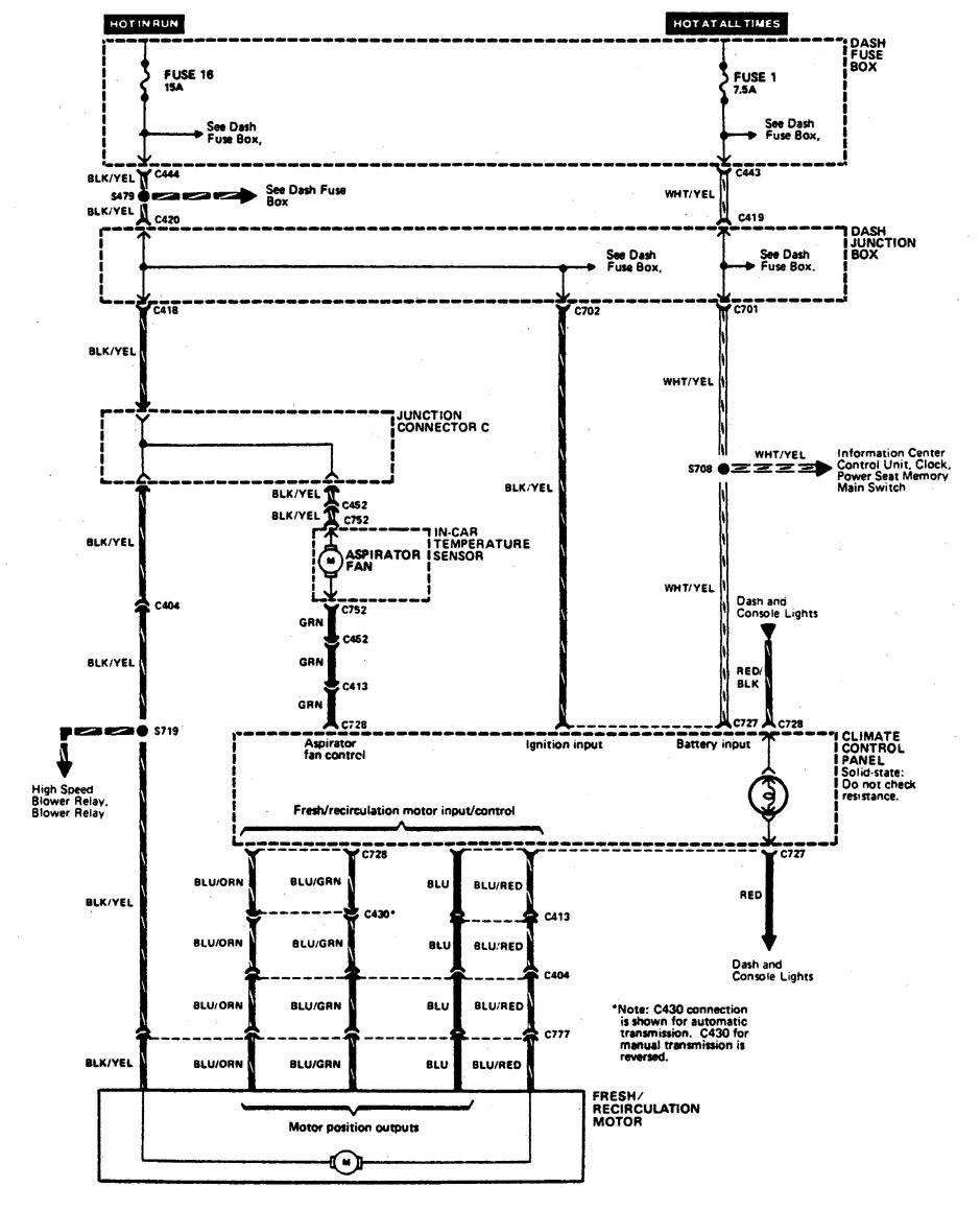 Hvac Wiring Diagram Legend : Acura legend wiring diagram hvac controls