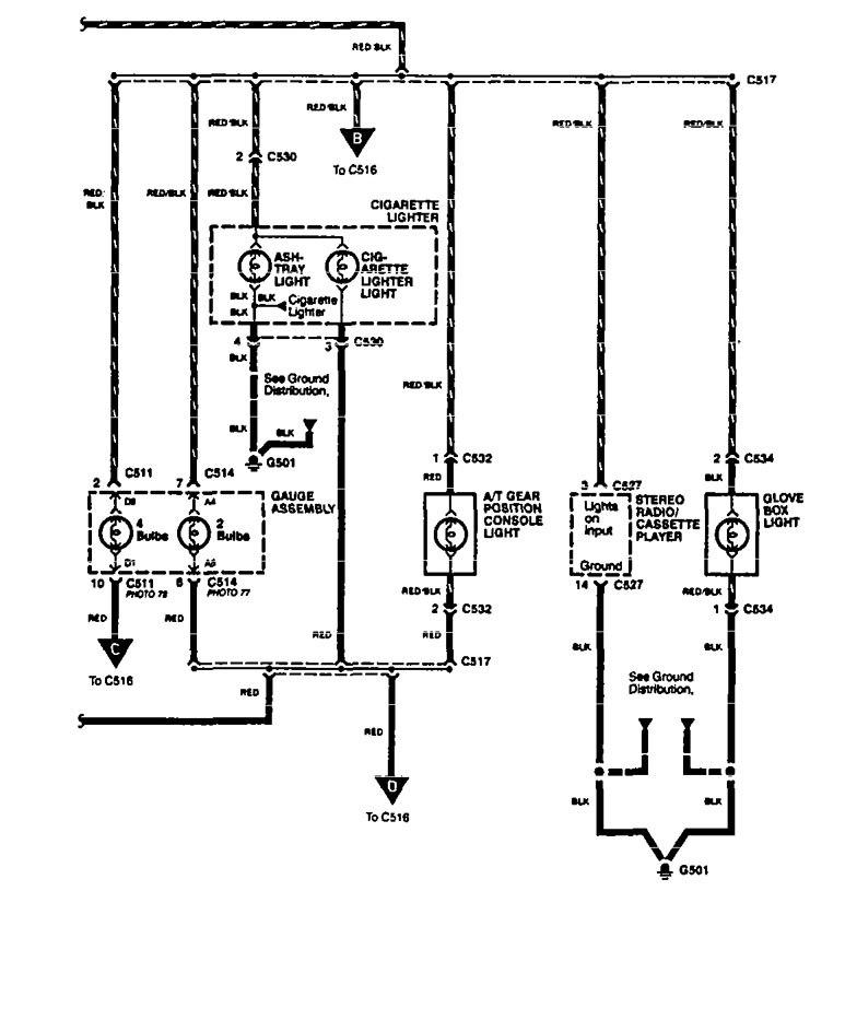acura legend  1994  - wiring diagram