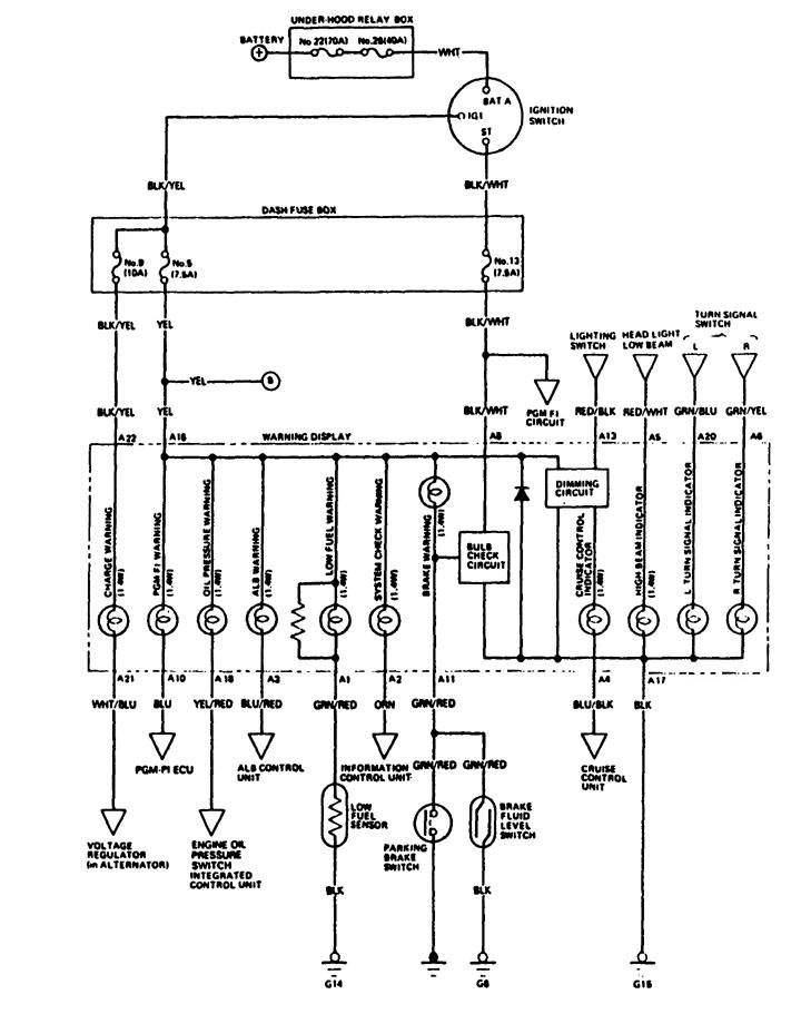 acura legend  1988  - wiring diagrams