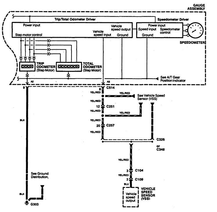 acura legend 1994 wiring diagrams instrumentation. Black Bedroom Furniture Sets. Home Design Ideas