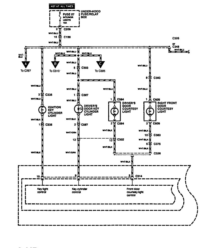 acura legend 1994 wiring diagram interior light. Black Bedroom Furniture Sets. Home Design Ideas