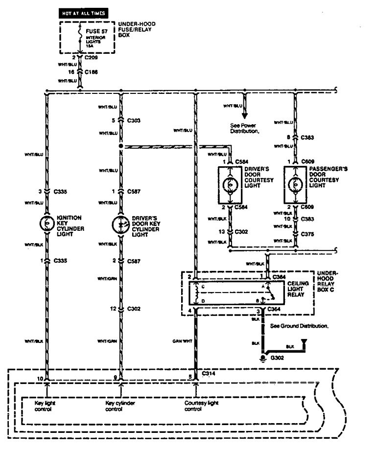 acura legend wiring diagram interior lighting v3 1 1994 acura legend (1994 1995) wiring diagram interior light 1990 acura legend wiring diagram at bayanpartner.co