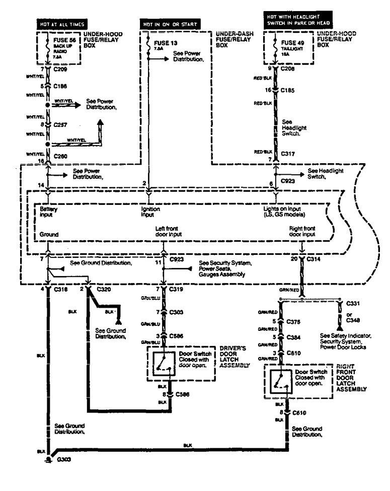Acura legend 1994 1995 wiring diagram interior light acura legend wiring diagram interior lighting part 1 asfbconference2016 Choice Image