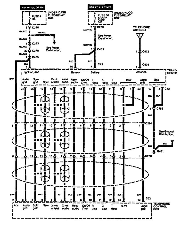 Acura Legend (1994 - 1995) - wiring diagram - mobile ...
