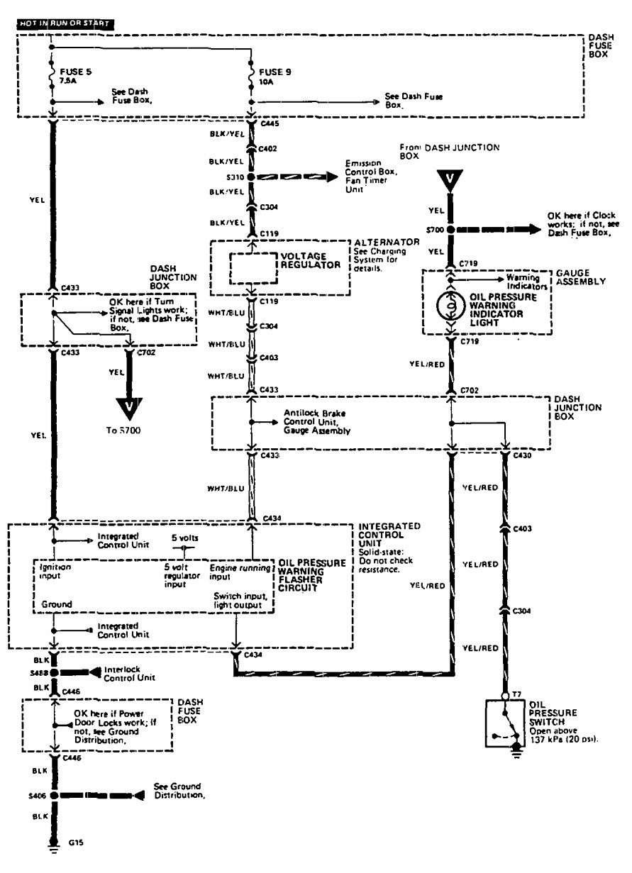 Acura Legend 1990 Wiring Diagram Oil Warning Carknowledge Info