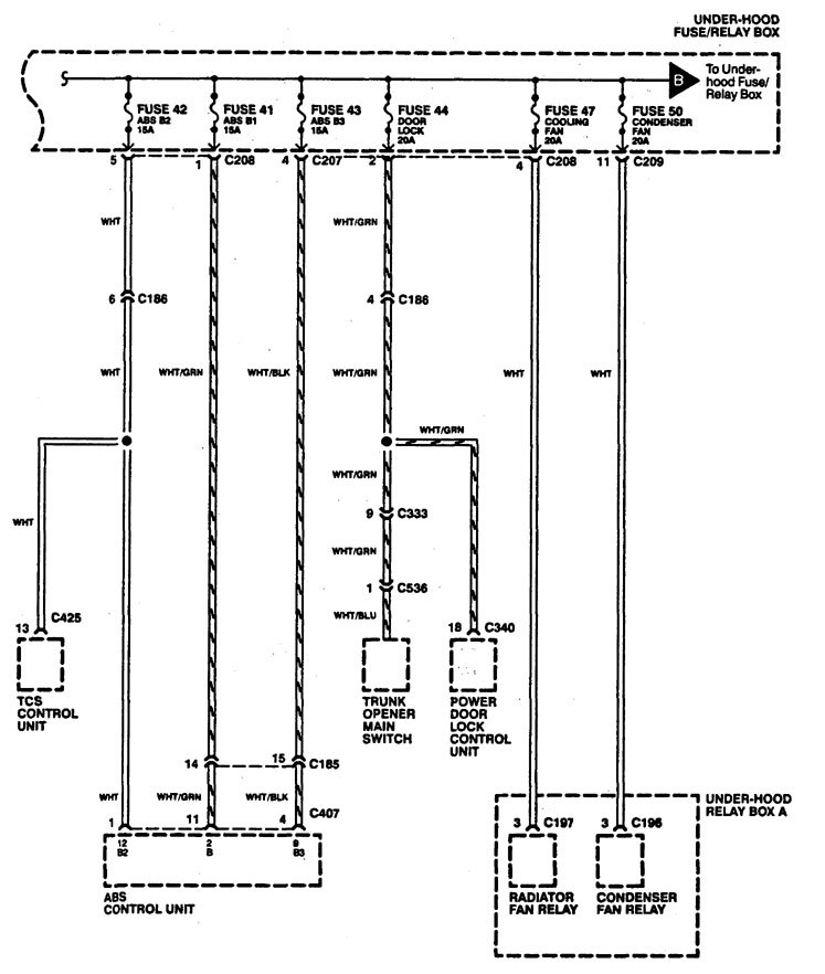 Acura Legend (1994) - wiring diagrams - power distribution -  Carknowledge.infoCarknowledge.info