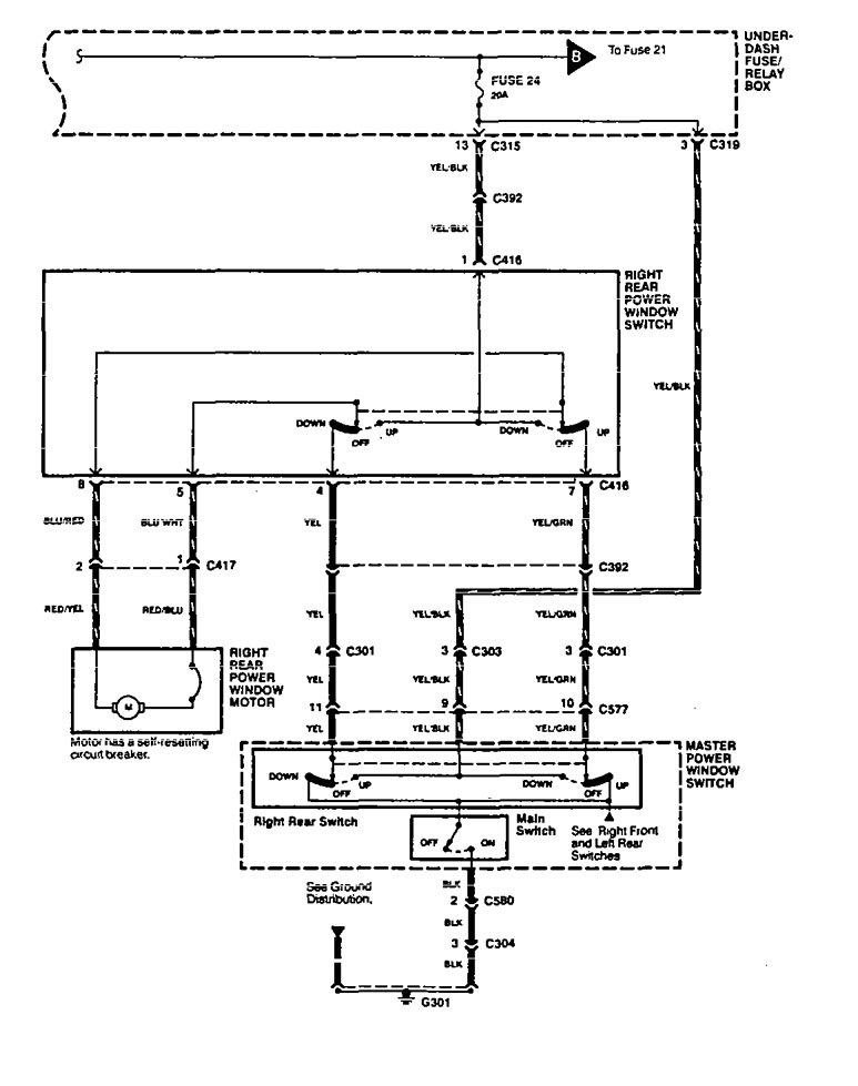[SCHEMATICS_4NL]  Acura Legend (1994 - 1995) - wiring system - power windows -  Carknowledge.info | 94 Legend Fuse Diagram |  | Carknowledge.info