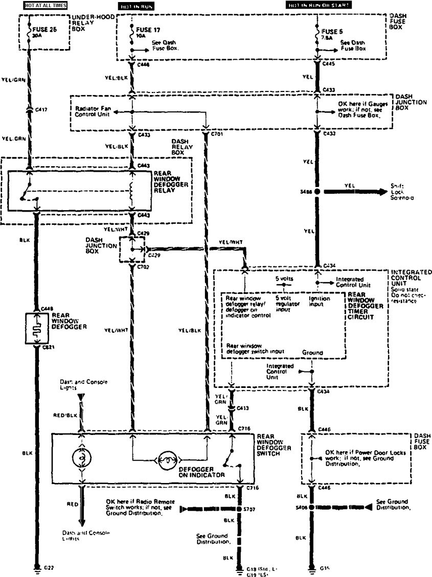 Acura Legend  1990  - Wiring System