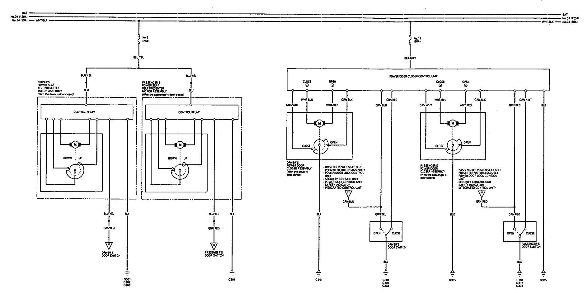 Acura Legend  1993  - Wiring Diagram