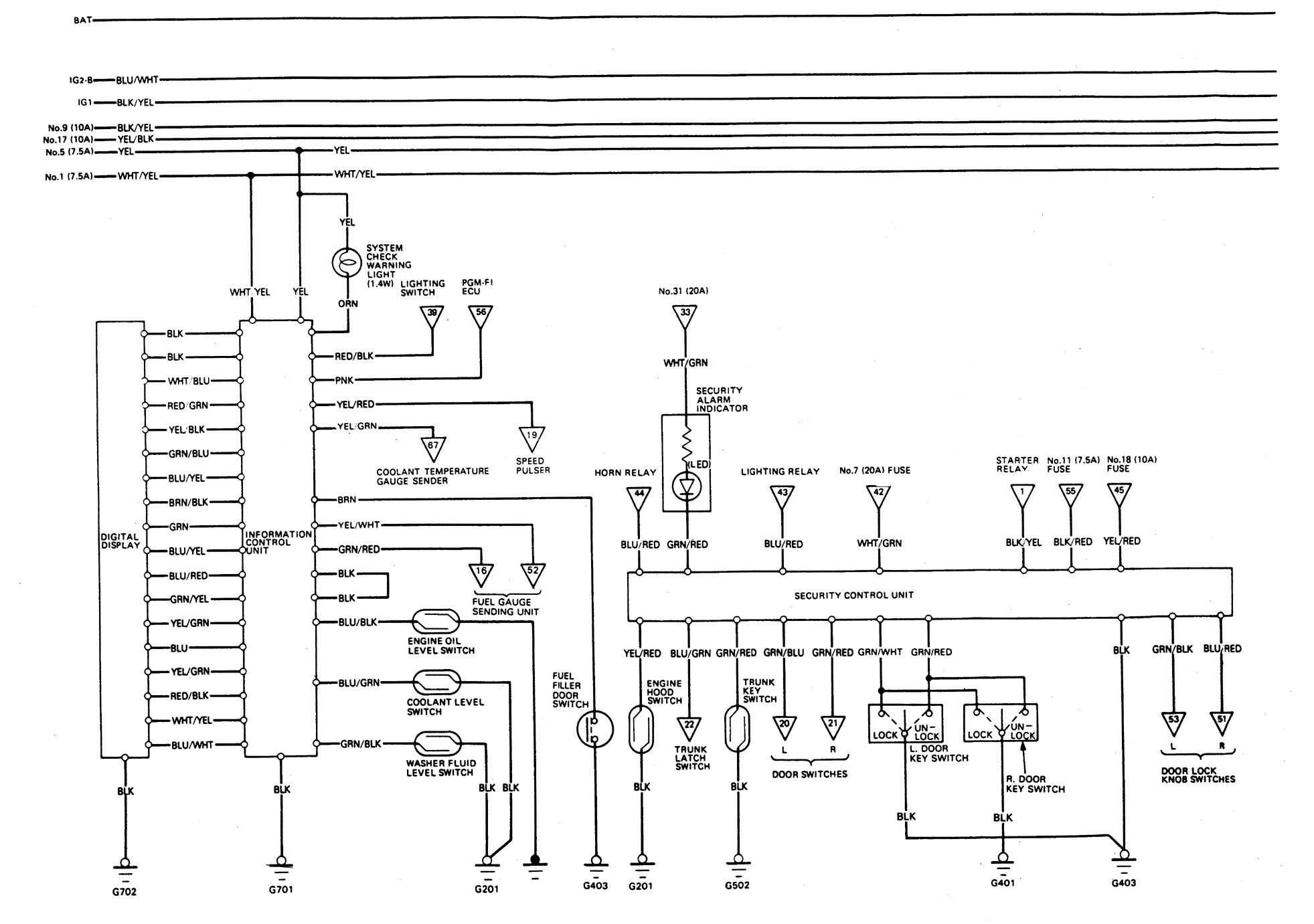 [SCHEMATICS_48IU]  Acura Legend (1989) - wiring system - security/anti-theft -  Carknowledge.info | 1989 Corvette Wiring Diagrams |  | Carknowledge.info