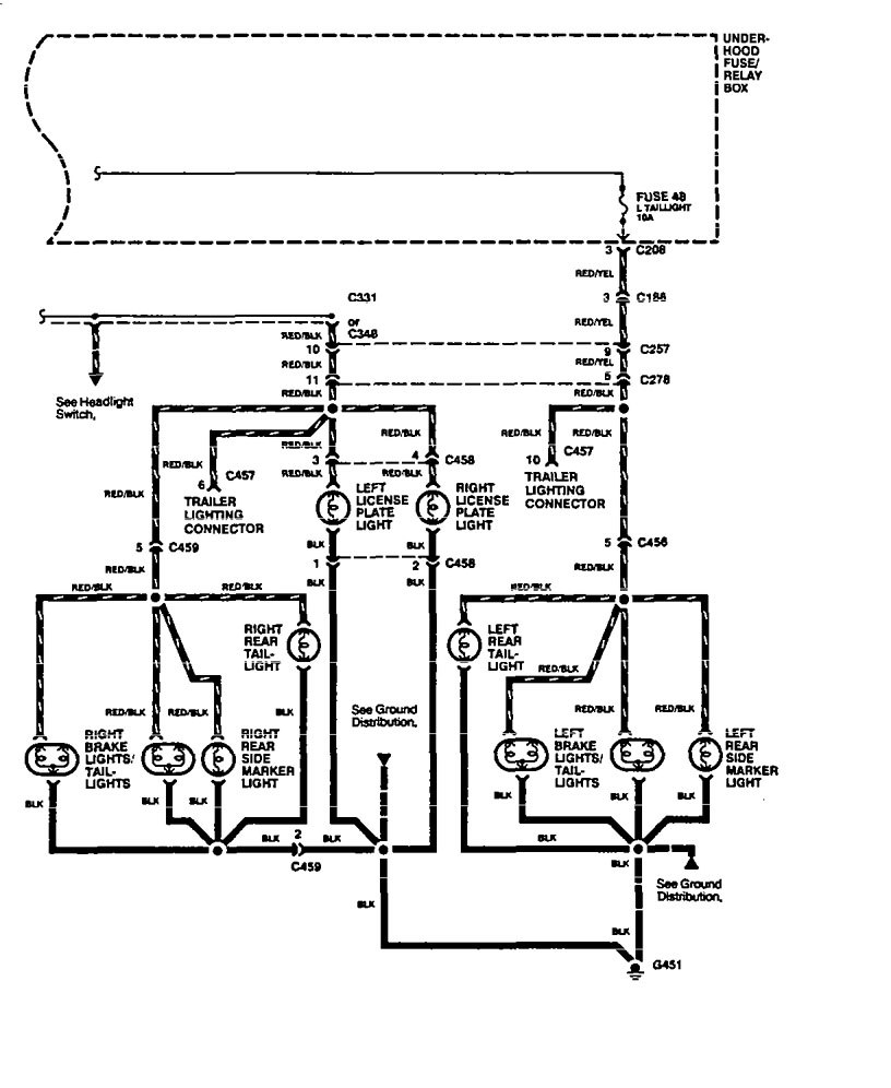 acura legend (1994 - 1995) - wiring diagram - side marker ... 1994 acura legend wiring diagram 93 acura legend wiring diagram