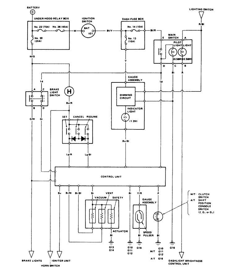 acura legend 1986 1987 wiring diagram speed. Black Bedroom Furniture Sets. Home Design Ideas