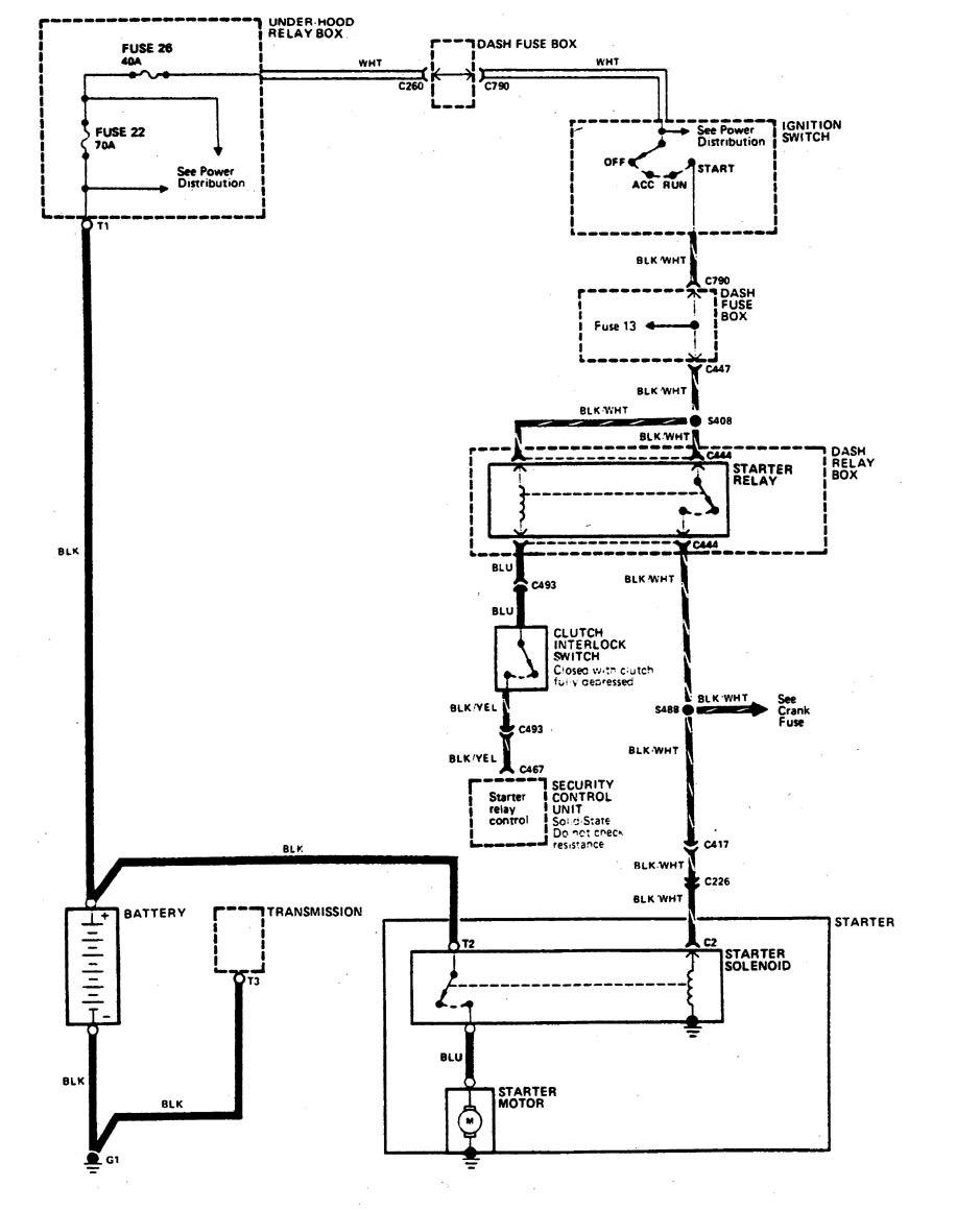 Acura Legend  1990  - Wiring Diagram - Starting