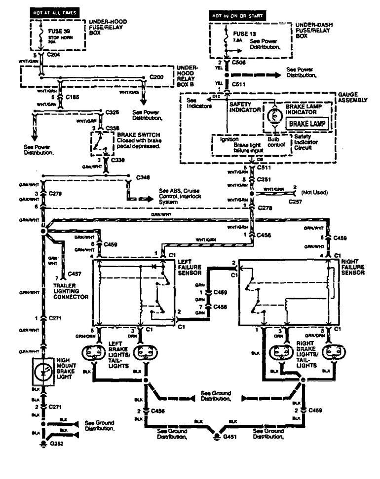 acura legend  1994 - 1995  - wiring diagram