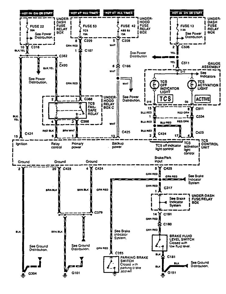 Acura Legend 1995 Wiring Diagram Traction Control