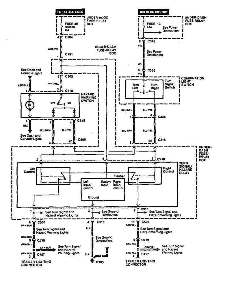 acura legend  1994  - wiring system  camper