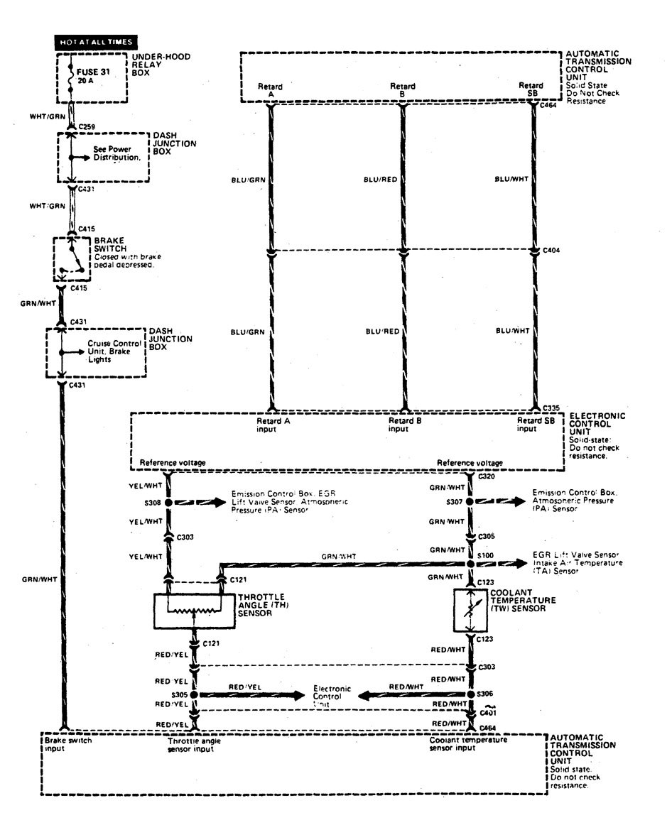 Acura Legend Wiring Diagram Transmission Controls - 1990 acura legend transmission