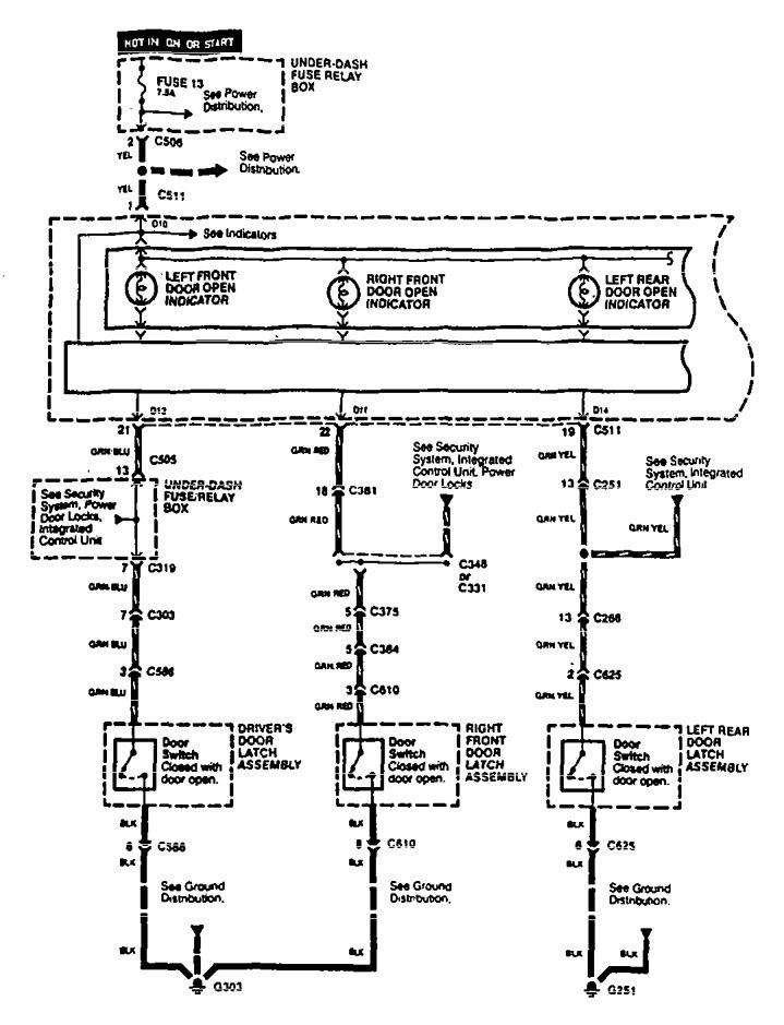 acura legend 1995 wiring diagrams warning indicator. Black Bedroom Furniture Sets. Home Design Ideas