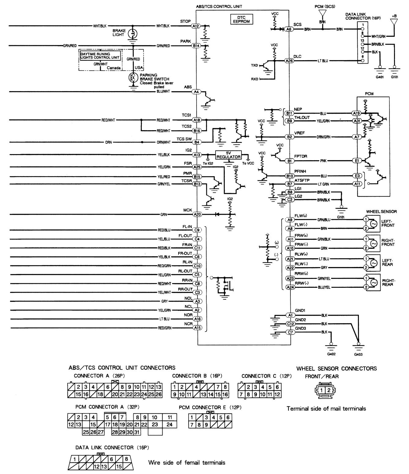 Acura Tl Brake Diagram Wiring Diagrams Mdx 2006 1999 2002 Controls