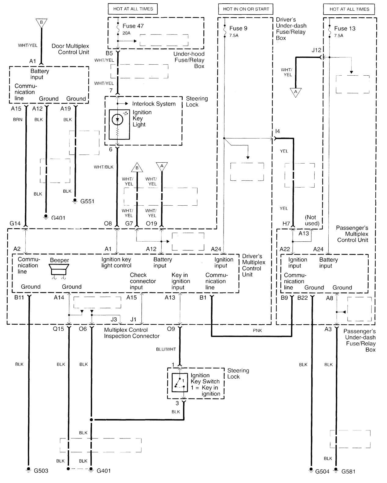 acura tl 2000 2001 wiring diagrams computer data. Black Bedroom Furniture Sets. Home Design Ideas