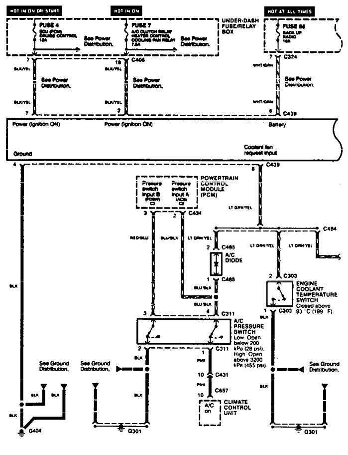acura tl 1996  wiring diagrams  condenser fans