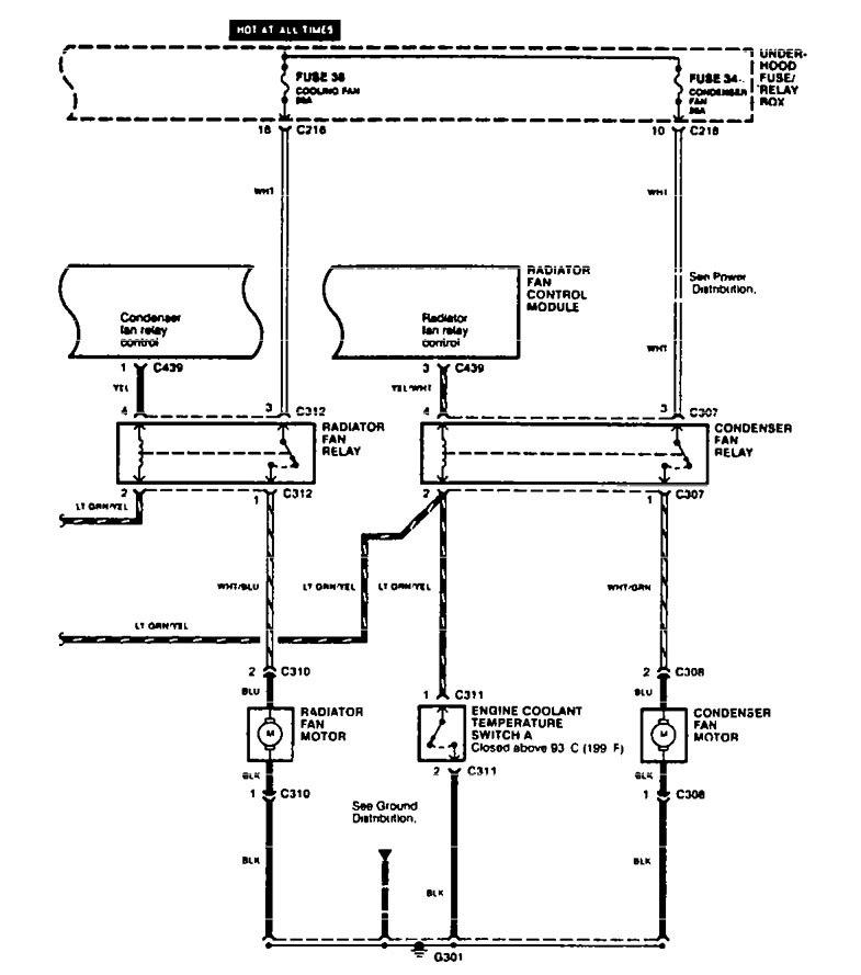 Acura Tl  1995 - 1996  - Wiring Diagrams
