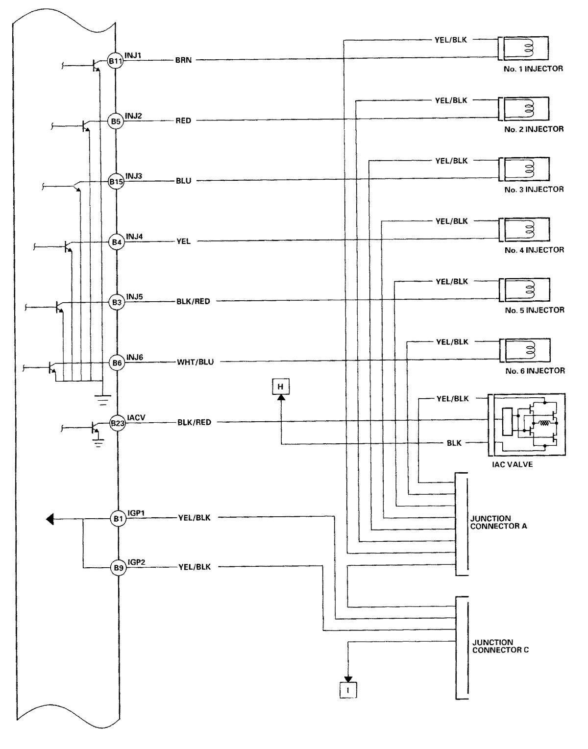 Acura Tl 2000 2001 Wiring Diagrams Fuel Controls Carknowledge El Diagram
