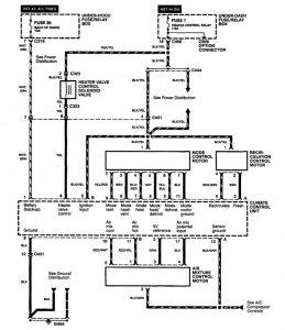Acura TL 1998 wiring diagrams HVAC controls