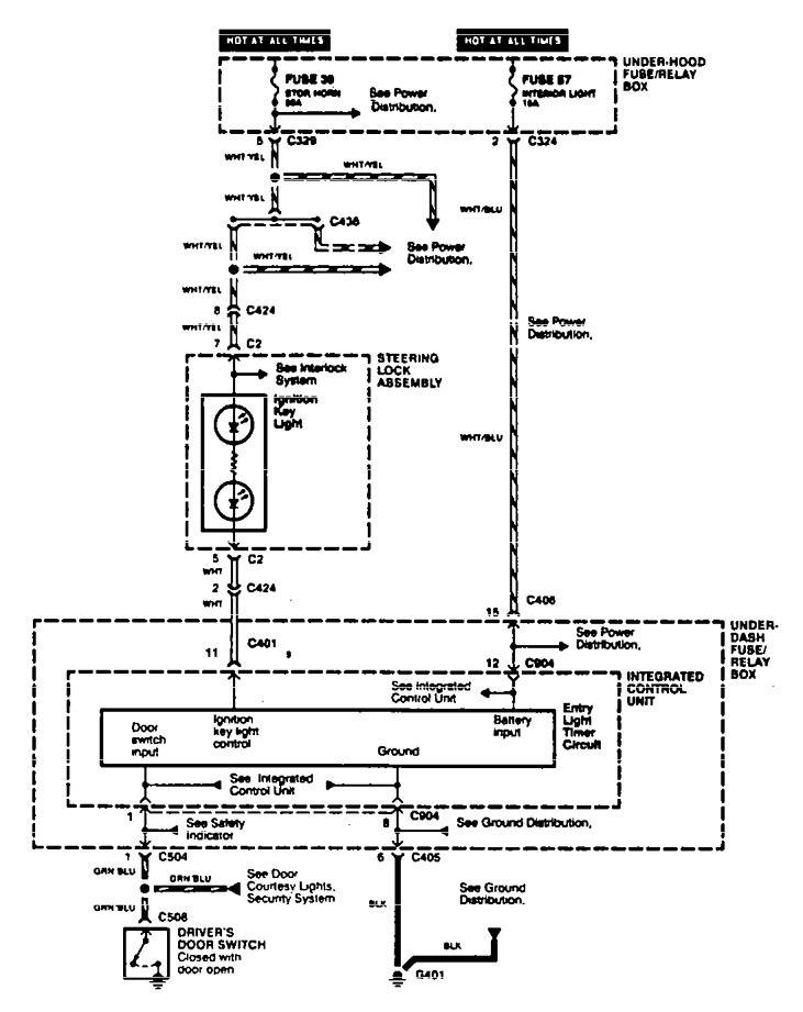 Acura TL (1996 - 1997) - wiring diagrams - illuminated ...