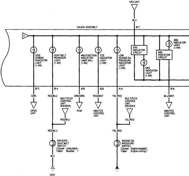 acura tl 2000 2001 wiring diagrams instrumentation. Black Bedroom Furniture Sets. Home Design Ideas