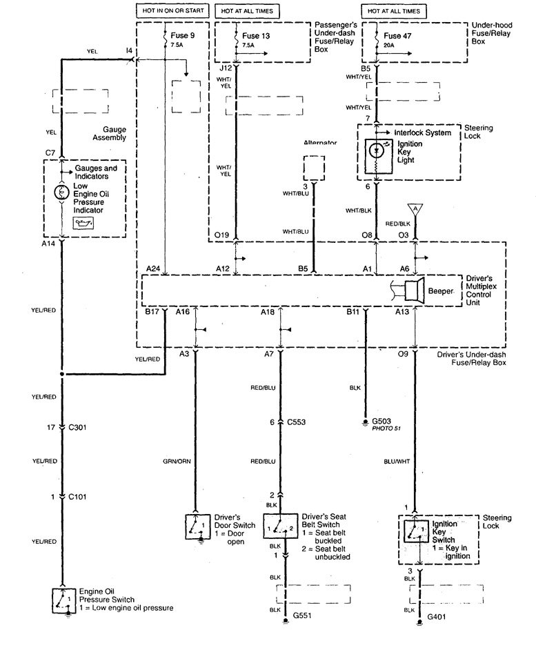 Acura Tl €� Wiring Diagram Key Warning Part 1: Acura Tl Wiring Diagram At Johnprice.co