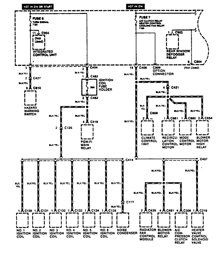 acura tl  1996 1997  wiring diagrams power distribution carknowledge Electrical Distribution Panel power distribution box wiring diagram