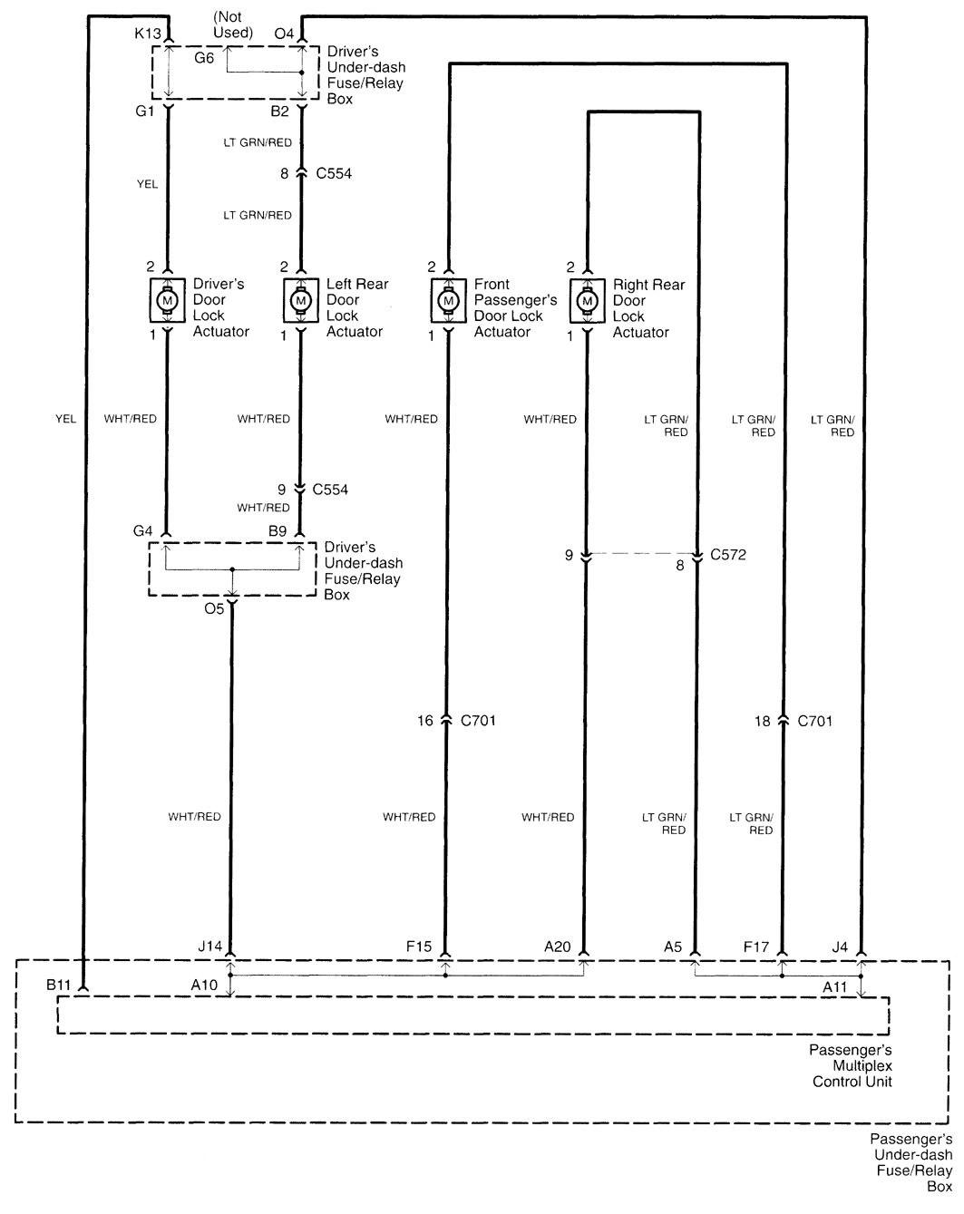 acura tl  2000 2001  wiring diagrams power locks 2000 Dodge Durango Transmission Diagram 1997 Acura TL 3 2 Engine Diagram