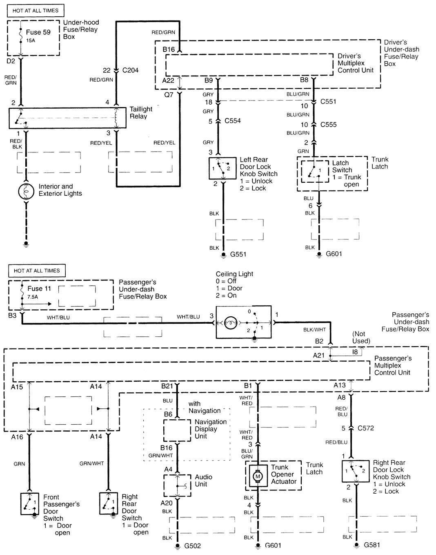 acura tl  2000 2001  wiring diagrams power locks 2002 Acura TL Headlight Diagram 1997 Acura TL 3 2 Engine Diagram