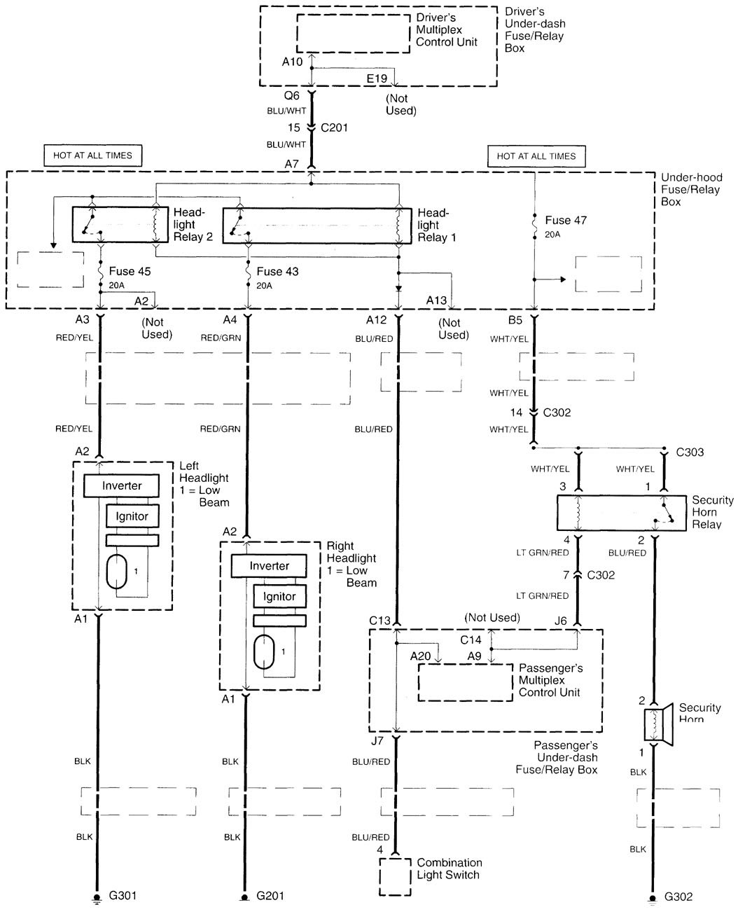 05 Acura Tl Wiring Diagram Diagrams Alarm 2000 2001 Power Locks Radio 2005 Amp