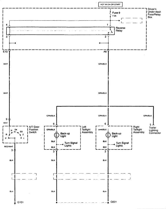 Acura Tl  1999  - Wiring Diagrams - Reverse Lamp