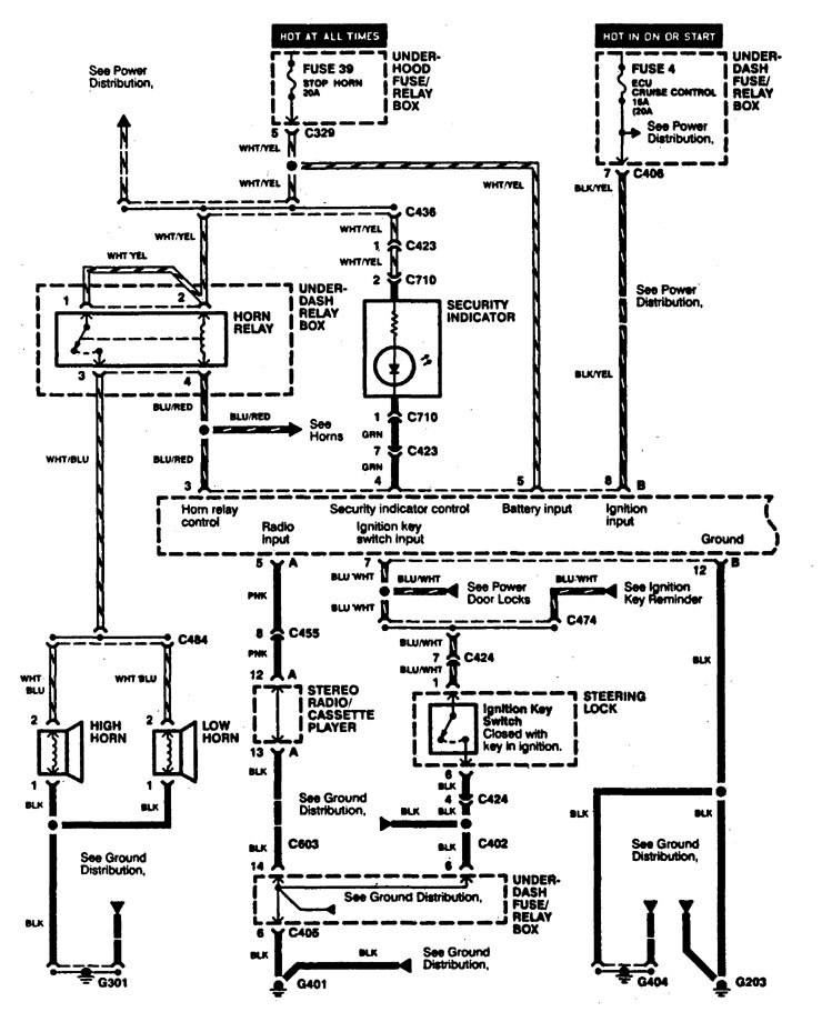 Acura TL (1997) - wiring diagrams - security/anti-theft ...