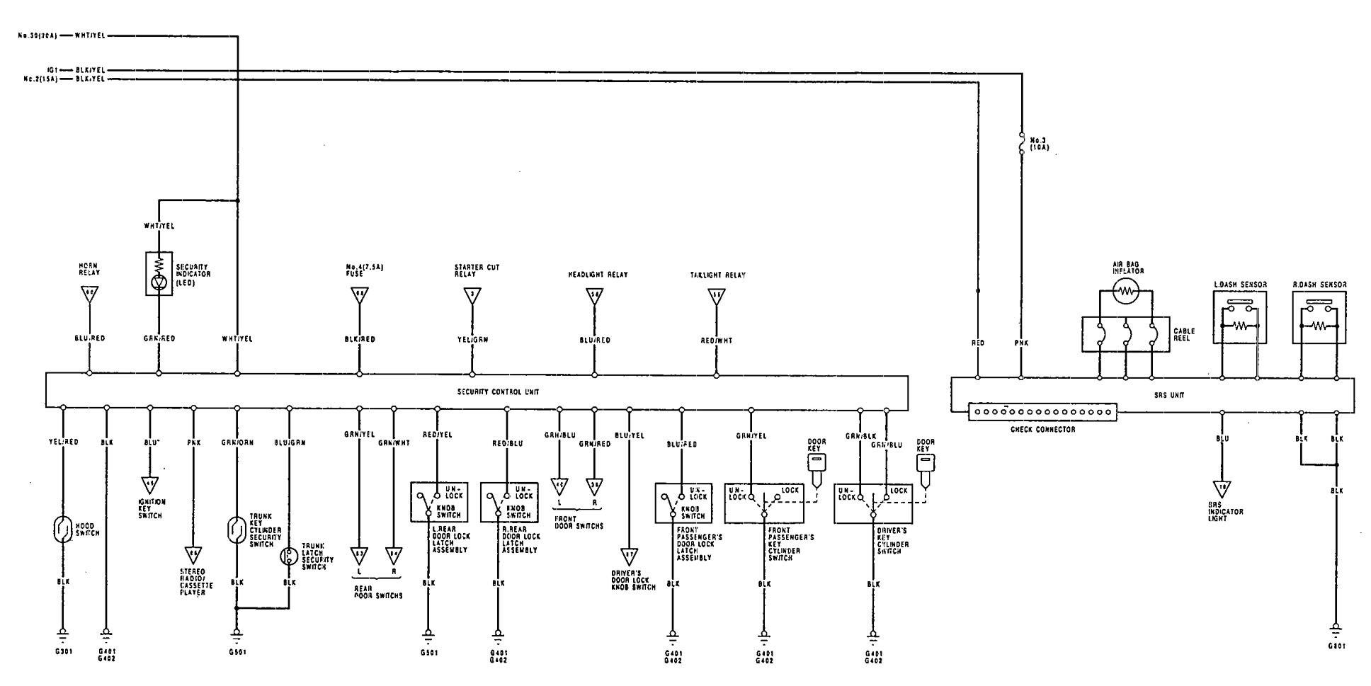 Acura Vigor  1992  - Wiring Diagrams