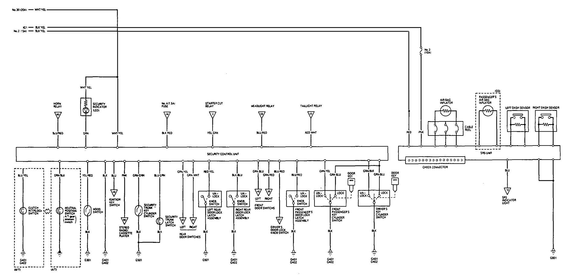 acura vigor 1993 wiring diagrams air bags carknowledge. Black Bedroom Furniture Sets. Home Design Ideas