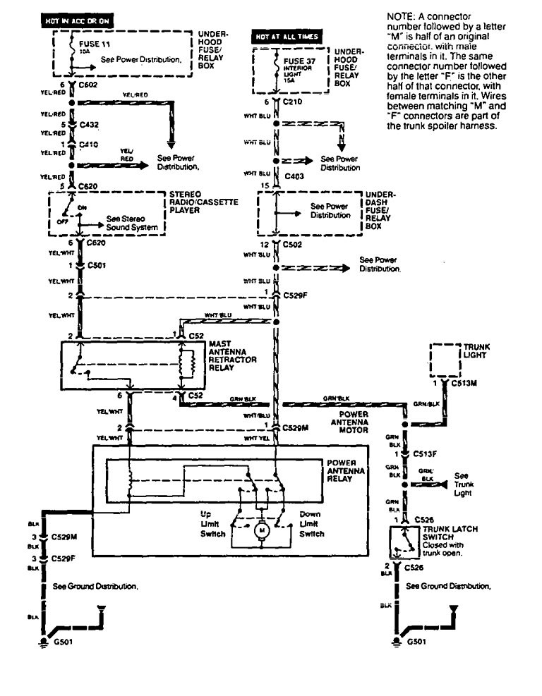 Acura Vigor Wiring Diagram : Acura vigor wiring diagrams antenna carknowledge