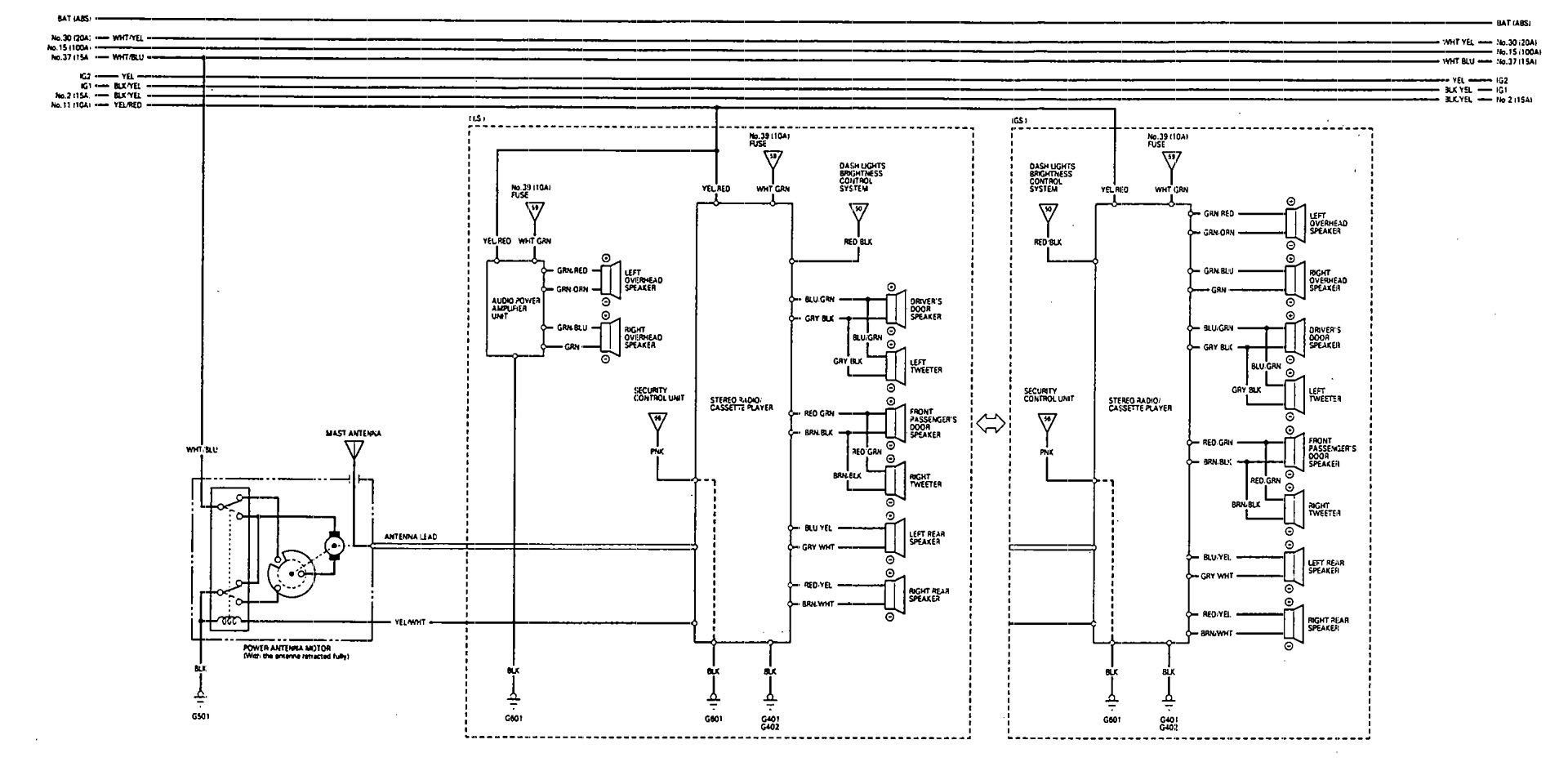 Acura Vigor 1993 Wiring Diagrams Audio Carknowledge Diagram