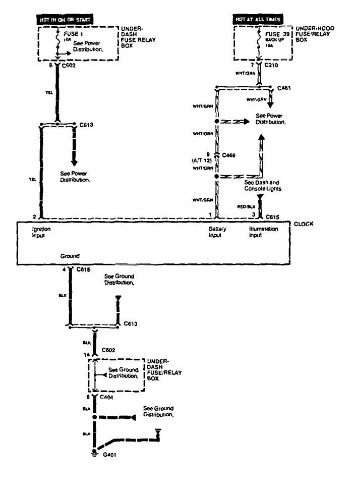 Acura Vigor Wiring Diagram : Acura vigor wiring diagrams clock carknowledge