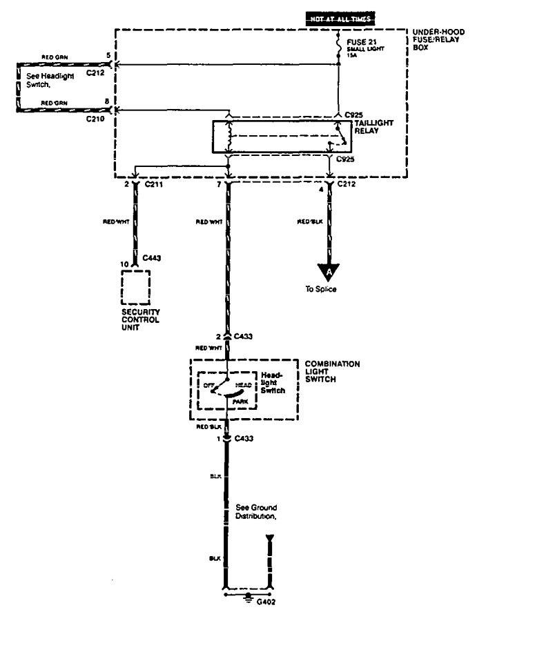 acura vigor  1994  - wiring diagrams