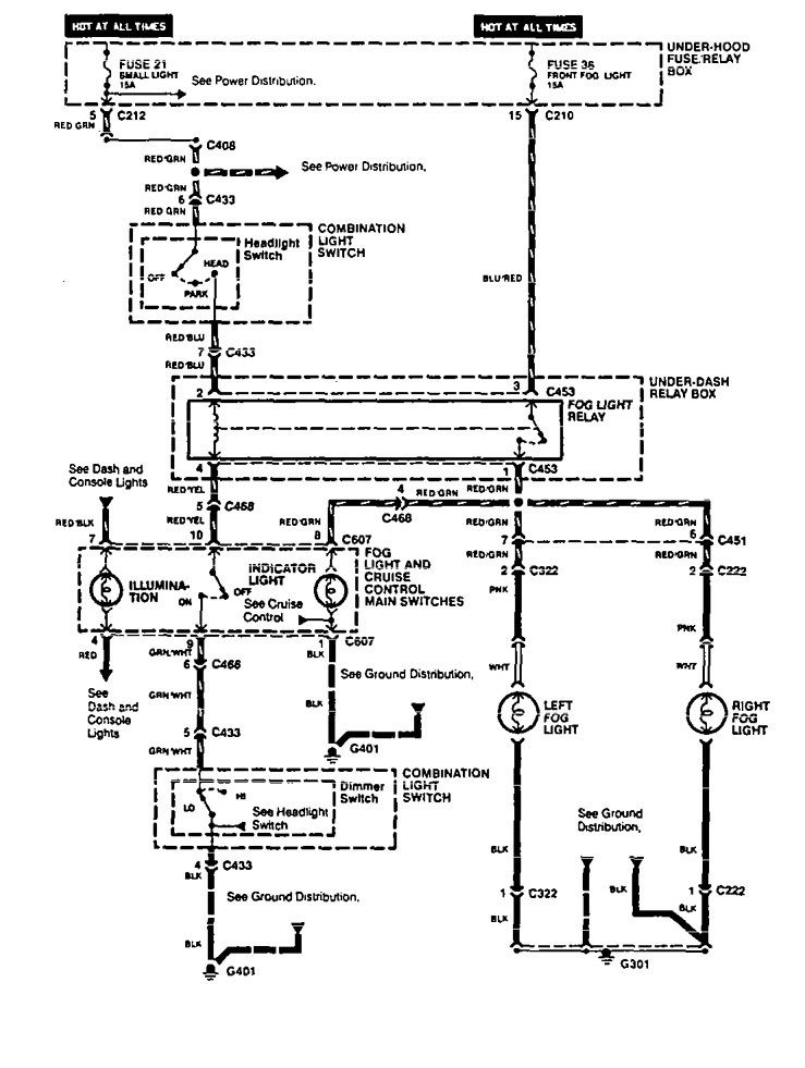 acura vigor  1994  - wiring diagrams