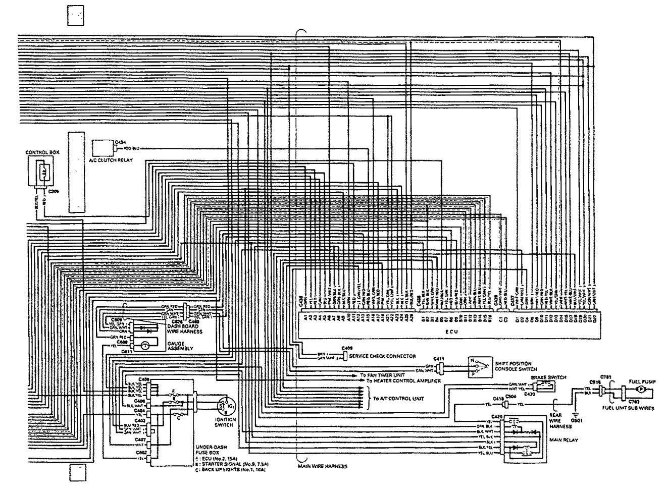 Acura Vigor Wiring Diagram : Acura vigor wiring diagrams fuel control