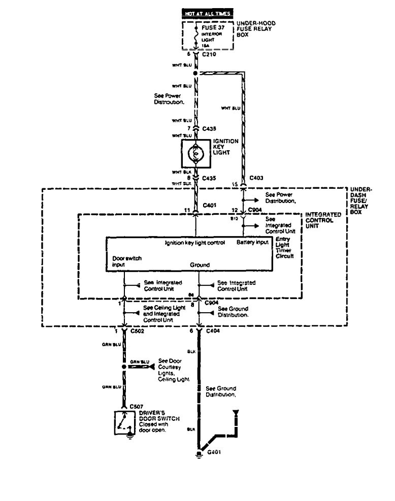 acura vigor 1994 wiring diagrams interior light. Black Bedroom Furniture Sets. Home Design Ideas