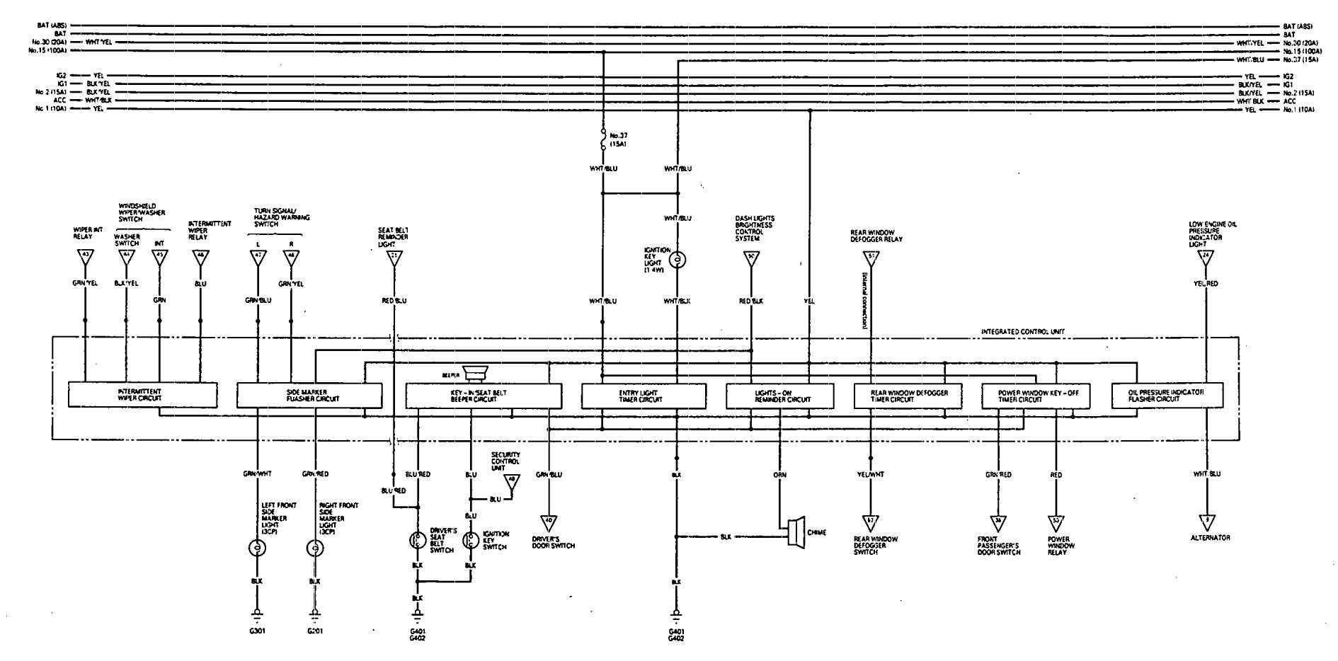 acura vigor motor diagram wiring diagrams acura integra